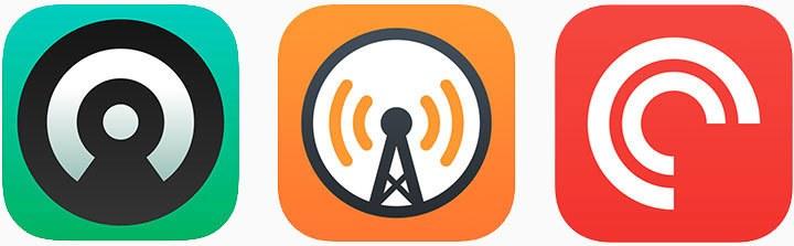 Приложения Castro, Overcast и Pocket Casts на iOS и macOS