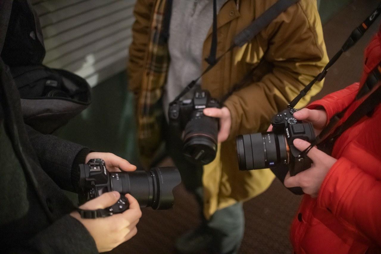 Sony a7 iii, Nikon Z6 и Canon EOS R
