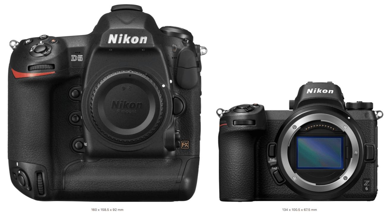 Nikon D5 и Nikon Z6